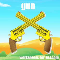 how to pronounce gun