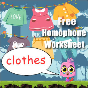 homophone example clothes