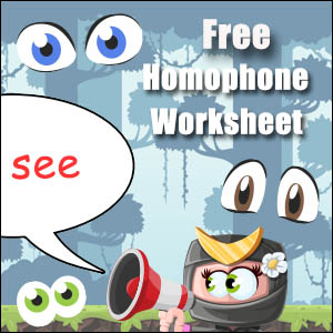 homophone example see