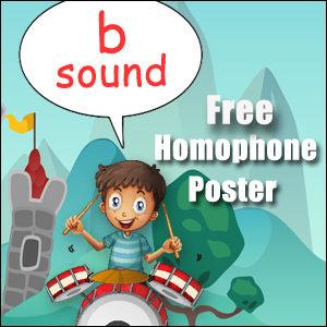 homophone examples b