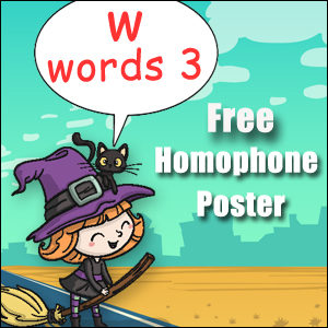 homophone examples w 3