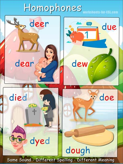 Homophone examples beginning with d