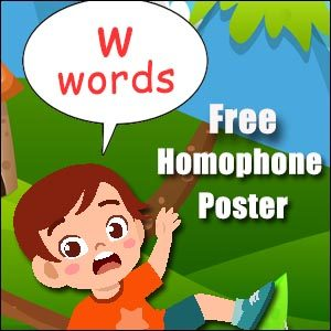 homophones starting with w